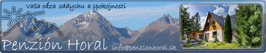 Accommodation in High Tatras - Penzión Horal